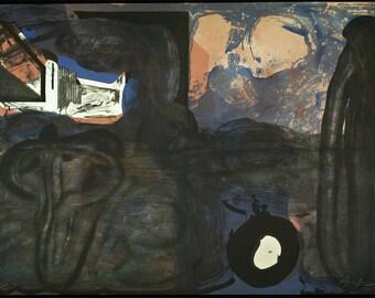 Casa negra, 1988. Lithograph by Eduardo ARRANZ-BRAVO