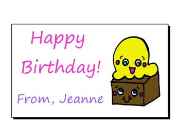 So Kawaii Ice Cream Brownie Personalized Gift Tags Set/10
