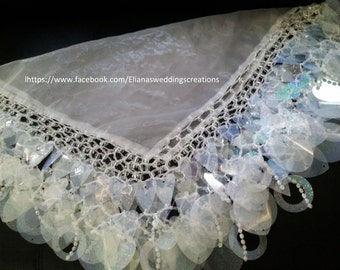 bride yalekhta (scarf) all shimmer glass