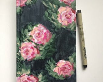 Hand-Painted Rose Journal