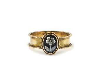 Victorian Memorial Forget Me Not Ring