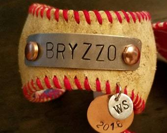 Chicago Cubs Bryzzo Baseball Cuff Bracelet - Rizzo and Bryant