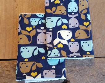 Loving Whales Burp Cloth Set