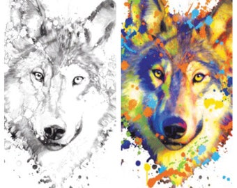 Neon Wolf Color Changing Graphic White Shirt