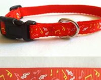 Small, XSmall, Cat Collars, Music, Cubs, Halloween, Dog Bones, Plaid, Fall, Leaves, Crossbones, Dots, Medium Collars