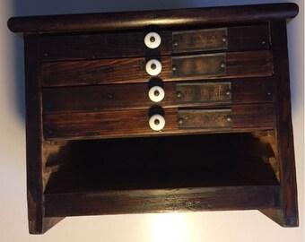 Vintage Printers Type Cabinet, Printer Drawers