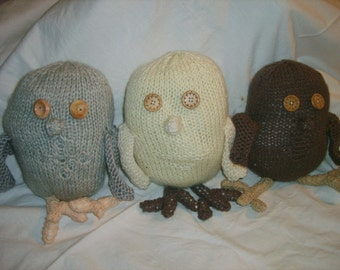 Knitted Large Owls