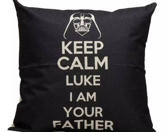 Starwars Keep Calm Luke I am Your Father Pillow Cover