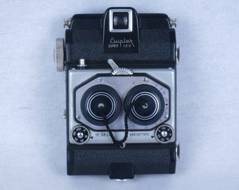 ISO Duplex Super 120 stereo camera with Iriar 35 mm f/3.5 lens and case