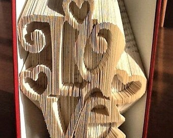 Love3 Book Folding Pattern - Cut & Fold