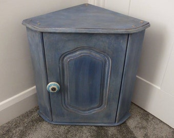 Distressed Corner Cupboard// Home Sweet Home// Furniture// The Little House of Vintage