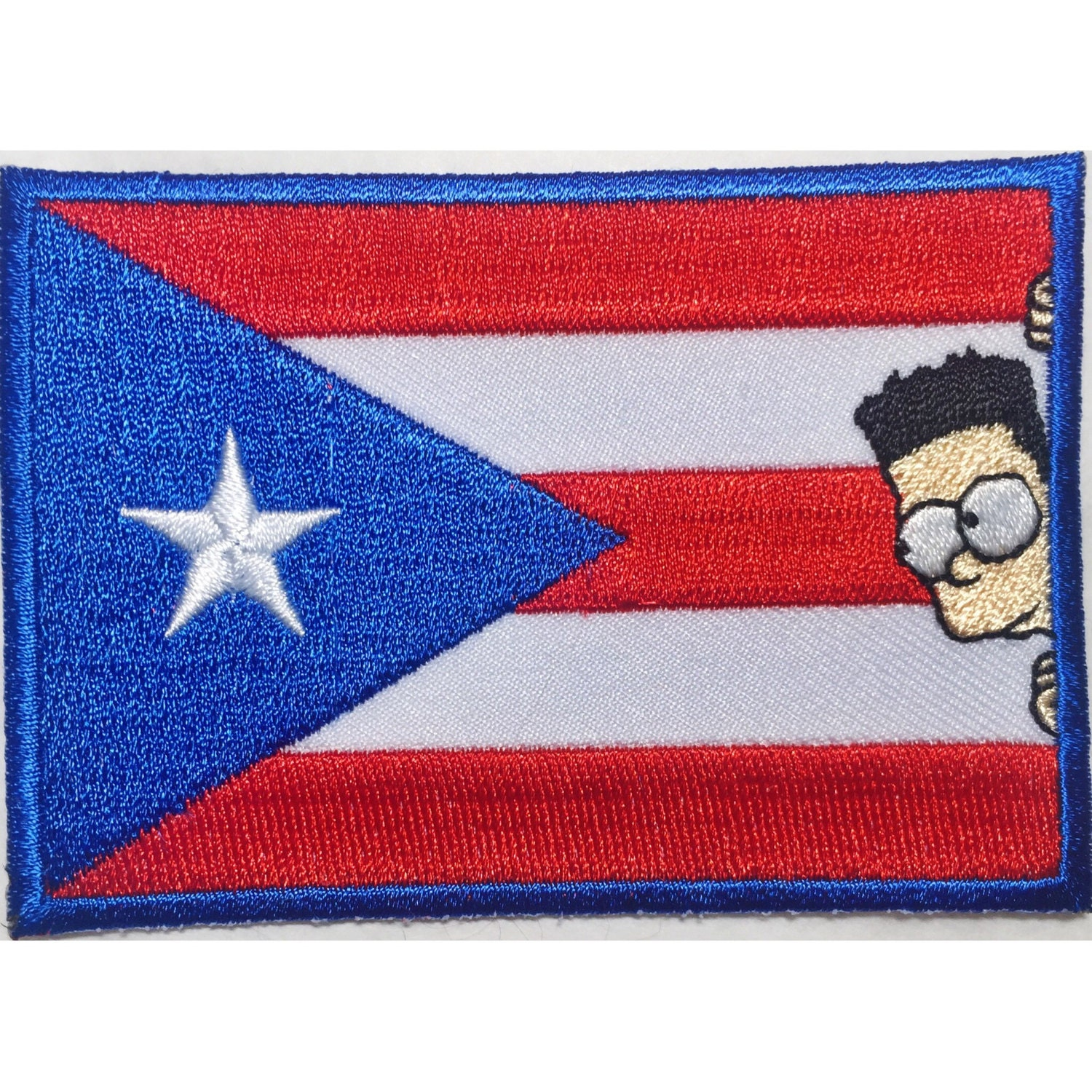 puerto rico flag bart patch