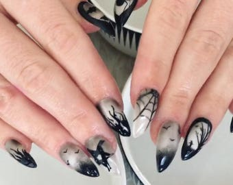 Black Magic Press on Nails | Witchy | False Nails | Color Shift | Duo | Fake Nails | Glue On Nails | Any Shape and Size