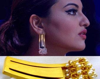 Sonakshi Sinha Earrings in Matte Gold Finish