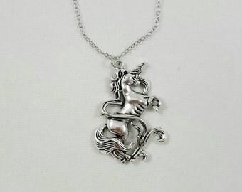 Unicorn Necklace, Medieval Unicorn, Renaissance Unicorn, Mythological Unicorn Pendant, Unicorn Jewelry