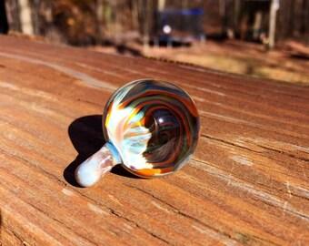 Glass Swirled Vortex Marble Pendant for Necklace, Keychain, Suncatcher