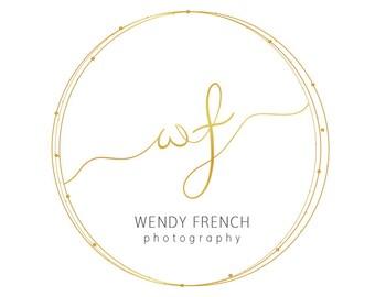 Gold Foil Logo | Logo Design Premade | Premade Logo Gold | Gold Logo Design | Logo For Small Business | Logo Design Simple |
