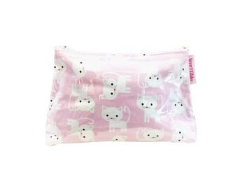 Pink Cat Makeup Purse
