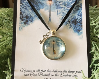 NARNIA The Musical, The Lion, Witch and Wardrobe, Glass Pendant, Necklace