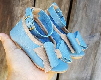 Robin Blue Ankle strap Ballerinas