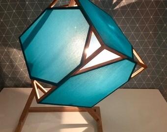Minimalist lamp - Turquoise
