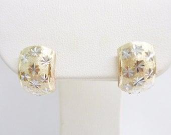 10k Hoop Earrings, 10k Hoops, Vintage Hoop Earrings, Vintage Hoops, Gold Hoops, Gold Hoop Earrings, Hoop Earrings, Vintage Gold Hoops #1961