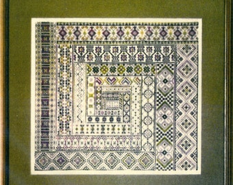 Spanish Geometrical Sampler by The Needles Content Counted Cross Stitch Pattern/Chart