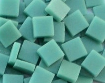 12mm Mosaic Craft Tiles - Mint Green Matte - 50g