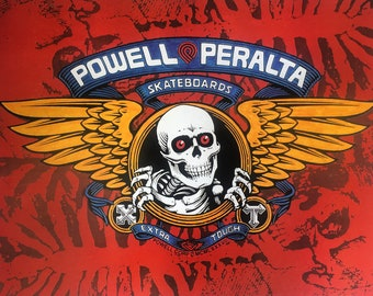 Powell Peralta Poster Rare Vintage Double Sided 1980's Original Limited Copies