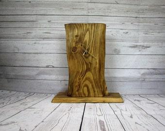 Live Edge Mantle Clock - Clock - Rustic Clock - Waney Edge Clock - Wooden Clock - Live Edge Wood - mothers day - anniversary gift