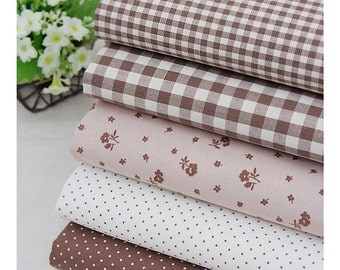 """Candy Color chocolate Series 20s Cotton Fabric - 44""""x35"""" - 1 Yard"""