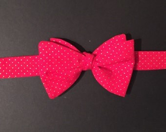 Red and Gold Self-tie Bow tie