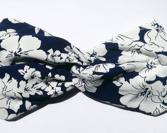 FLORAL TURBAN HEADBAND / / vintage clothing / / retro / / turban / / fashion turban / / headband / / vintage / / 50s / / handmade / / calamity
