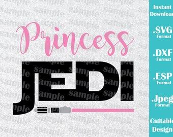 INSTANT DOWNLOAD SVG Star Wars Inspired Princess Leia Jedi for Cutting Machines Svg, Esp, Dxf and Jpeg Format Cricut Silhouette