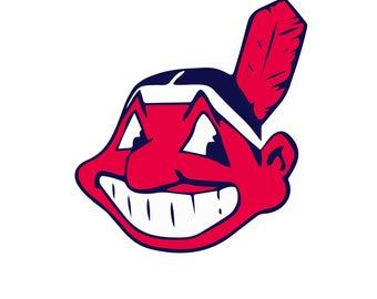 Cleveland Indians SVG, Cleveland Baseball Clipart, Cleveland Indians DXF EPS JPg Png digital download