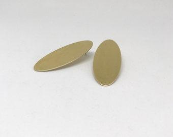 Brass Drop Oval Studs