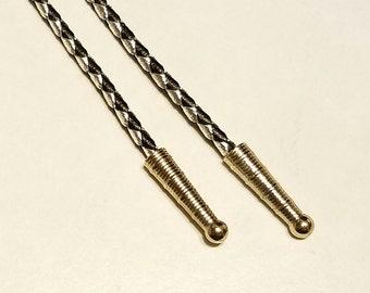 Vintage Silver and Black Bolo Tie