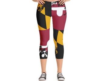 MD Leggings / Maryland / Leggings / Yoga Pants / Womens Leggings / Capri / Capri Pants / Capri Leggings