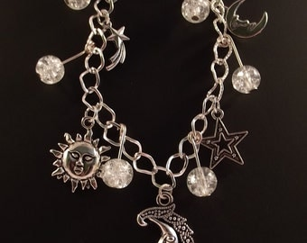 Moon and Star Charm Braclet