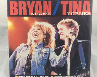 "Bryan Adams / Tina Turner - It's Only Love - 12"" Single - Vintage Vinyl Record"