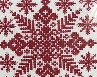 Bucilla counted cross stitch Snowflakes kit
