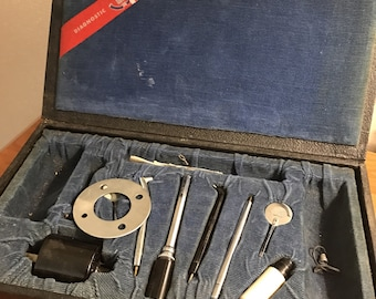 Antique dental tool kit