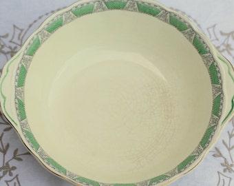 Grindley cream petal serving bowl in Balfour pattern