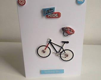 Handmade 'Lets Ride' Birthday Boy Card