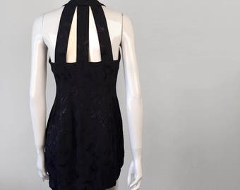 Reworked Vintage Black on Black SAVANNAH Dress