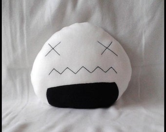 Cuddly pillow large onigiri defeated pillow stitched cushion sofa cushions