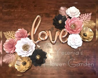 Paper Flowers Love set