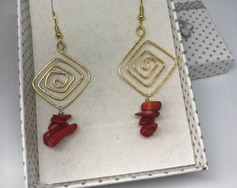 Earrings wire and gemstone jewelry