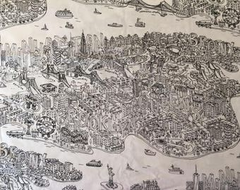 New York City Cotton Fabric