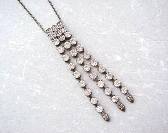 Vintage Deco Style Rhinestone Necklace